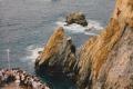 Klippenspringer in La Quebrada (Koordinaten: 16.8459,-99.9153)