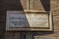 Straßenschild der Via Michelangelo Caetani in Rom