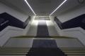 Treppe von den Kabinen der Allianz Arena in den Innenraum