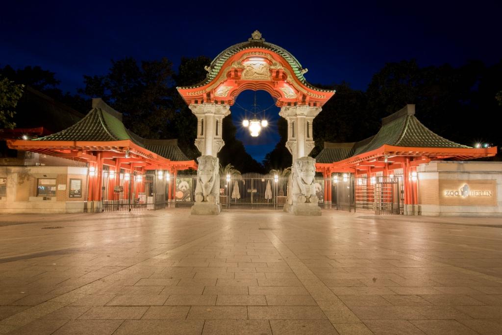 Elfeantentor des Berliner Zoos