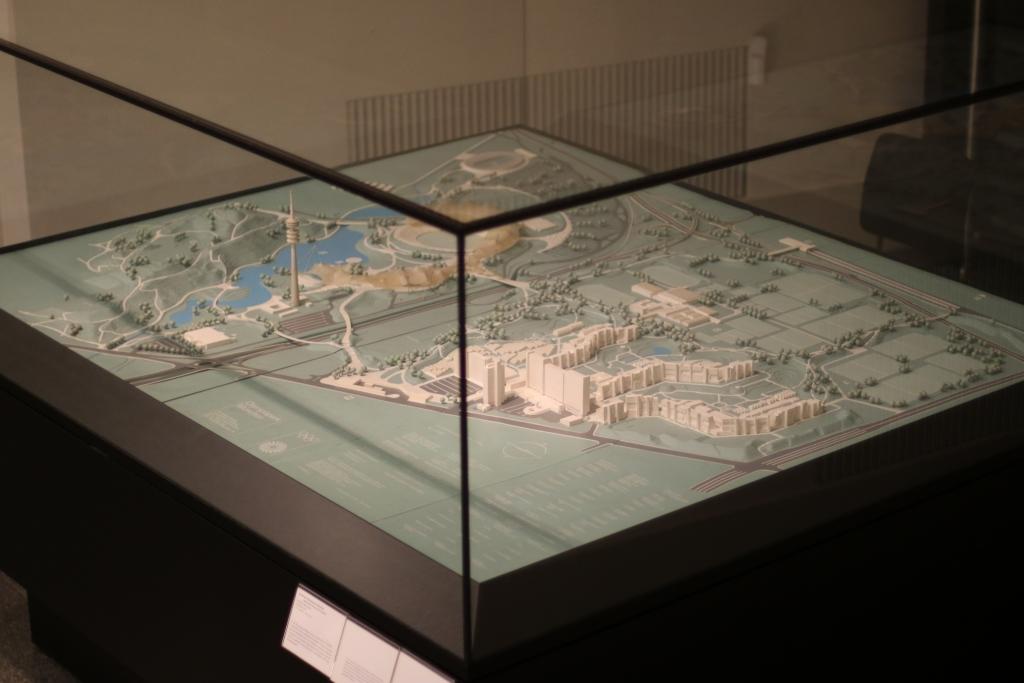 Modell des Olympiaparks München im Deutschen Historischen Museum