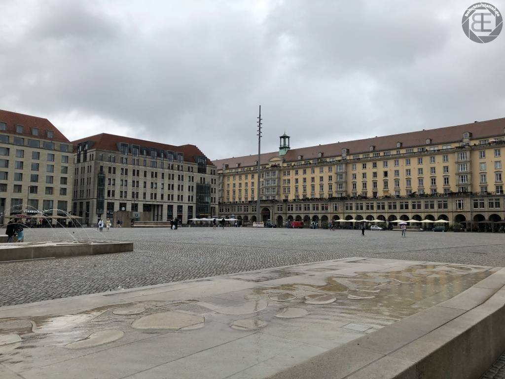 Altmarkt in Dresden im Juli 2018