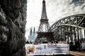 Eiffelturm in Köln im Mai 2017 zur Eishockey-WM
