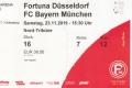 Eintrittskarte Fortuna Düsseldorf - FC Bayern München 0:4 (23.11.2019; 12. Spieltag)
