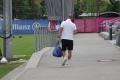 Pep Guardiola auf dem Trainingsgelände des FC Bayern München