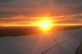Sonnenuntergang auf dem Flug von Stansted nach Köln