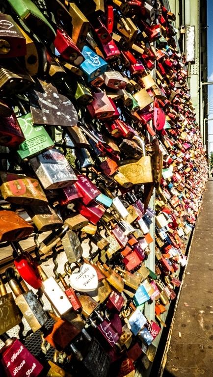 Liebesschlösser an der Hohenzollernbrücke (Köln)