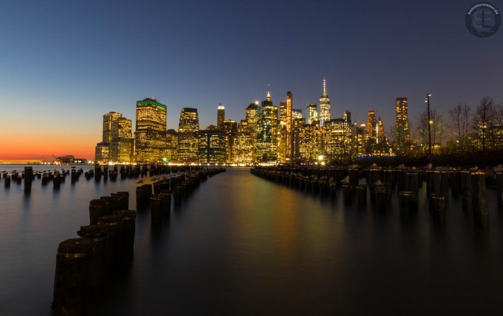 New York City 2019: Financial Disctrict von Brooklyn Heights aus