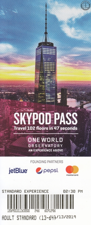 New York City 2019: Eintrittskarte One World Observatory