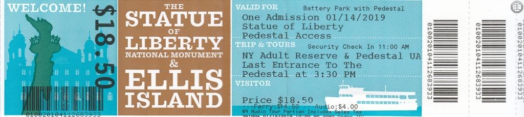 New York City 2019: Ticket Liberty Island