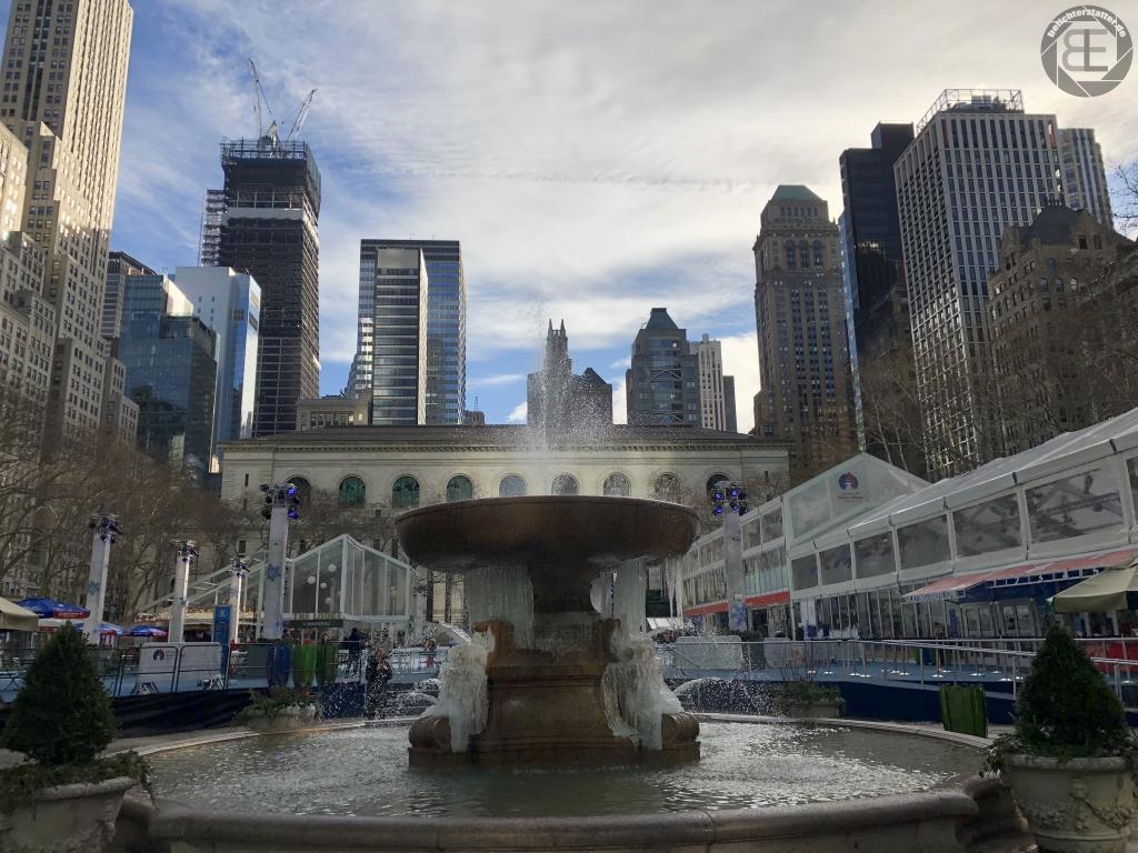 New York City 2019: Bryant Park (iPhone-Foto)