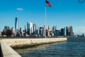 New York City 2019: Financial District von Ellis Island aus