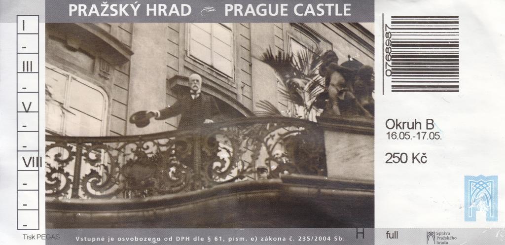 Eintrittskarte Prager Burg
