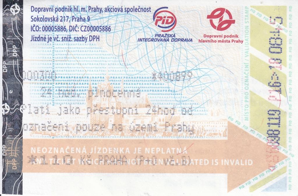 U-Bahn-Tagesticket Prag