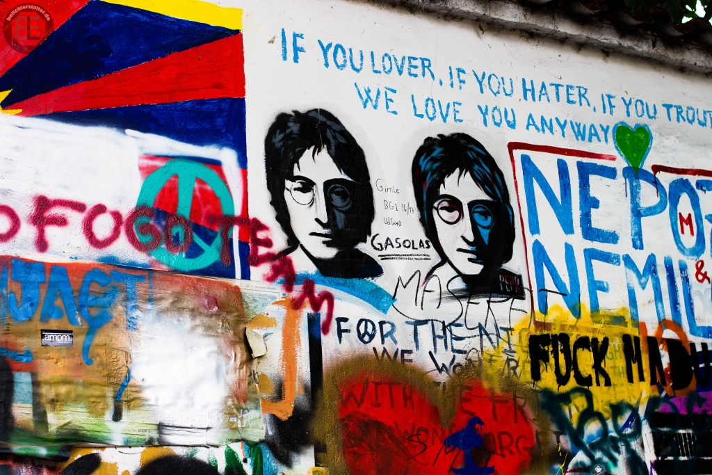 John-Lennon-Mauer in Prag