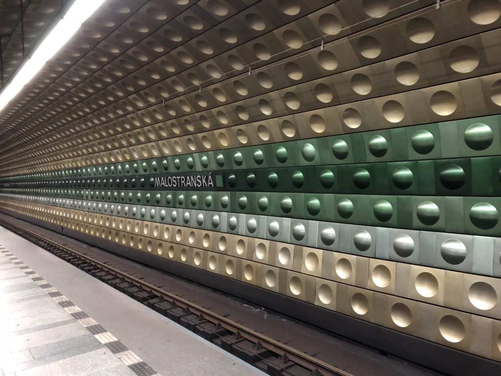 U-Bahn-Haltestelle in Prag (iPhone-Bild)