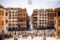 Blick von der Scalinata di Trinità dei Monti in Rom