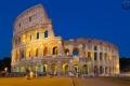 Kolosseum zur blauen Stunde