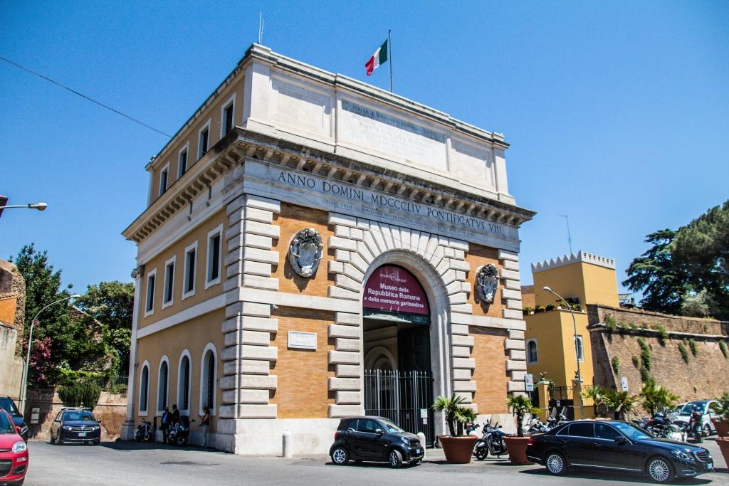 Porta San Pancrazio auf der Piazzale Aurelio