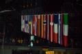 Flaggen der teilnehmenden Nationen vor dem Spiel U.S.A. - Deutschland (1:2) bei der Eishockey-WM 2017 in Köln