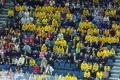 schwedische Fans in der Kölnarena beim Spiel U.S.A. - Deutschland (1:2) bei der Eishockey-WM 2017 in Köln