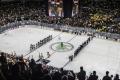 Siegerehrung nach dem Spiel U.S.A. - Deutschland (1:2) bei der Eishockey-WM 2017 in Köln