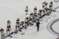 die deutsche Nationalmannschaft nach der Nationalhymne nach dem Spiel U.S.A. - Deutschland (1:2) bei der Eishockey-WM 2017 in Köln