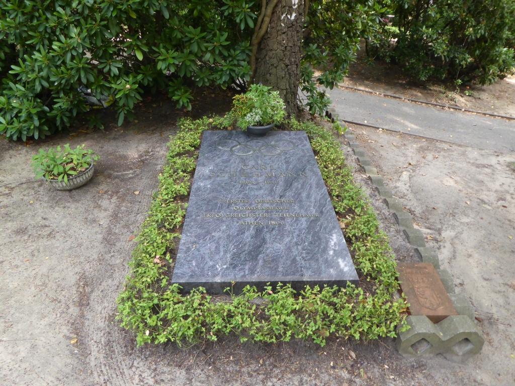 Grab von Carl Schuhmann auf dem Waldfriedhof Heerstraße in Berlin