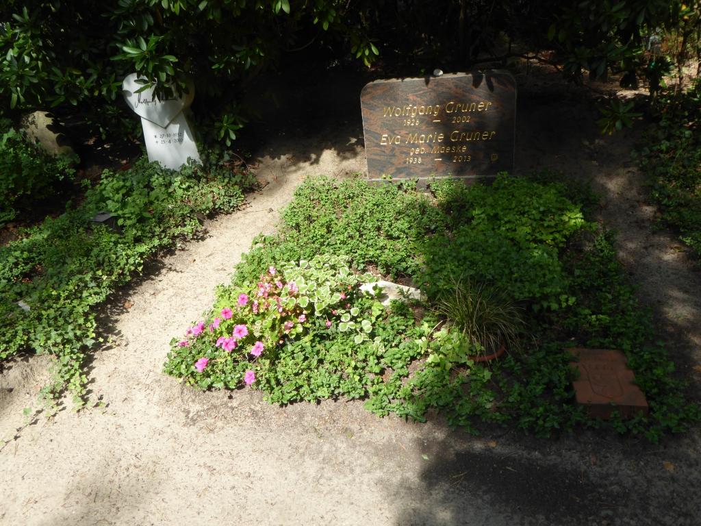 Grab von Wolfgang Gruner auf dem Waldfriedhof Heerstraße in Berlin