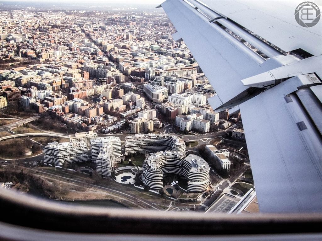 Anflug auf Washington, D.C.