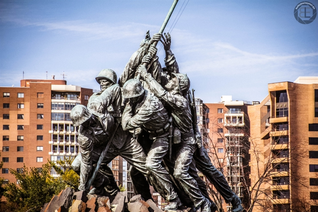 United States Marine Corps War Memorial in Rosslyn