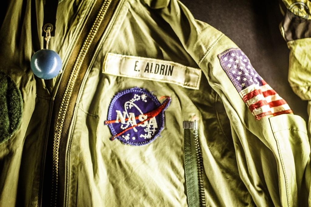 """Jack von """"Buzz"""" Aldrin, die er bei der Mondlandung trug (im National Air and Space Museum in Washington, D.C.)"""