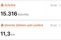 zurückgelegte Wegstrecke in Wolfsburg am 26.08.2020