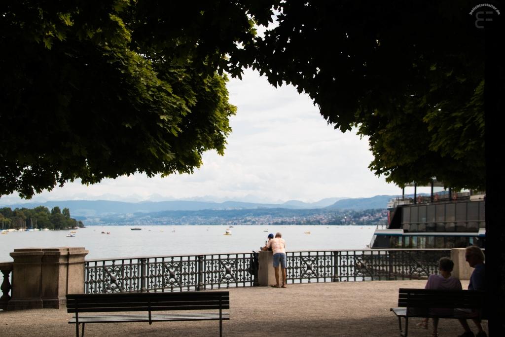 Zürich im August 2018: am Zürichsee