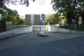 Tiefgaragenein- und Ausfahrt des Hauses Zum Renngraben 8 in Erftstadt-Liblar