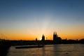 Sonnenuntergang in Köln am 25.04.2020
