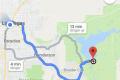 unsere Wegstrecke von Las Vegas zum Hoover Dam