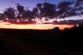 Sonnenuntergang am Sherwood Harbor Marina RV Park in Sacramento